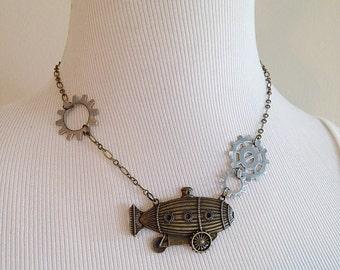 Steampunk Zeppelin Necklace