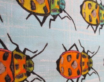 Quilting Weight Cotton Fabric Bugs by Michael Miller in multi colors 1 yard
