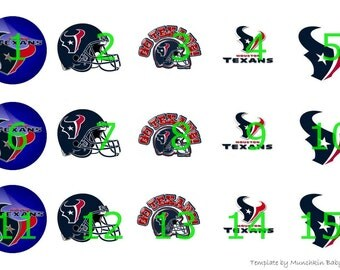 "1"" Bottle Cap Images-Houston Texans"