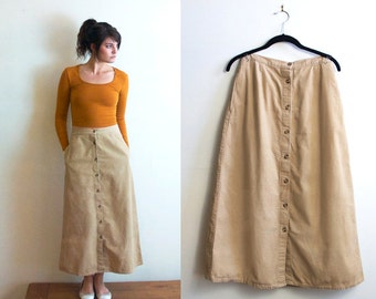 Long beige skirt – Etsy