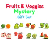 Fruit and Veggies Mystery Earring Grab Bag ... 6 Pairs of Produce Earrings