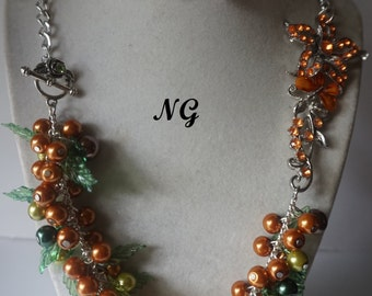 Autumn Harvest Flower Necklace Set