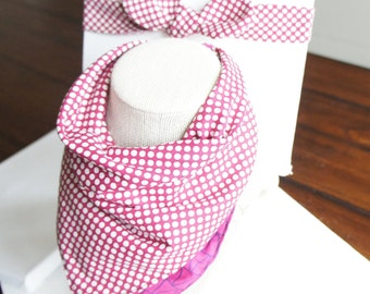 NEW/set of 2/All-IN-1 Baby toddler REVERSIBLE bandana bib-scarf-drool bib/burp cloth /wipe cloth+adjustable headband/