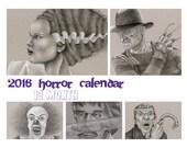 2016 Horror Movie Calendar, Digital Download