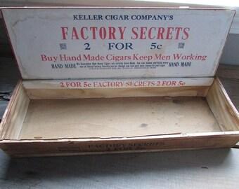 Vintage Factory Cigar Box Keller Cigar Company Factory Secrets
