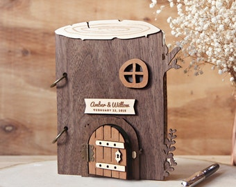 Wedding Guest Book Tree house Rustic Forest or Garden - Baby Shower, House warming or Anniversary gift
