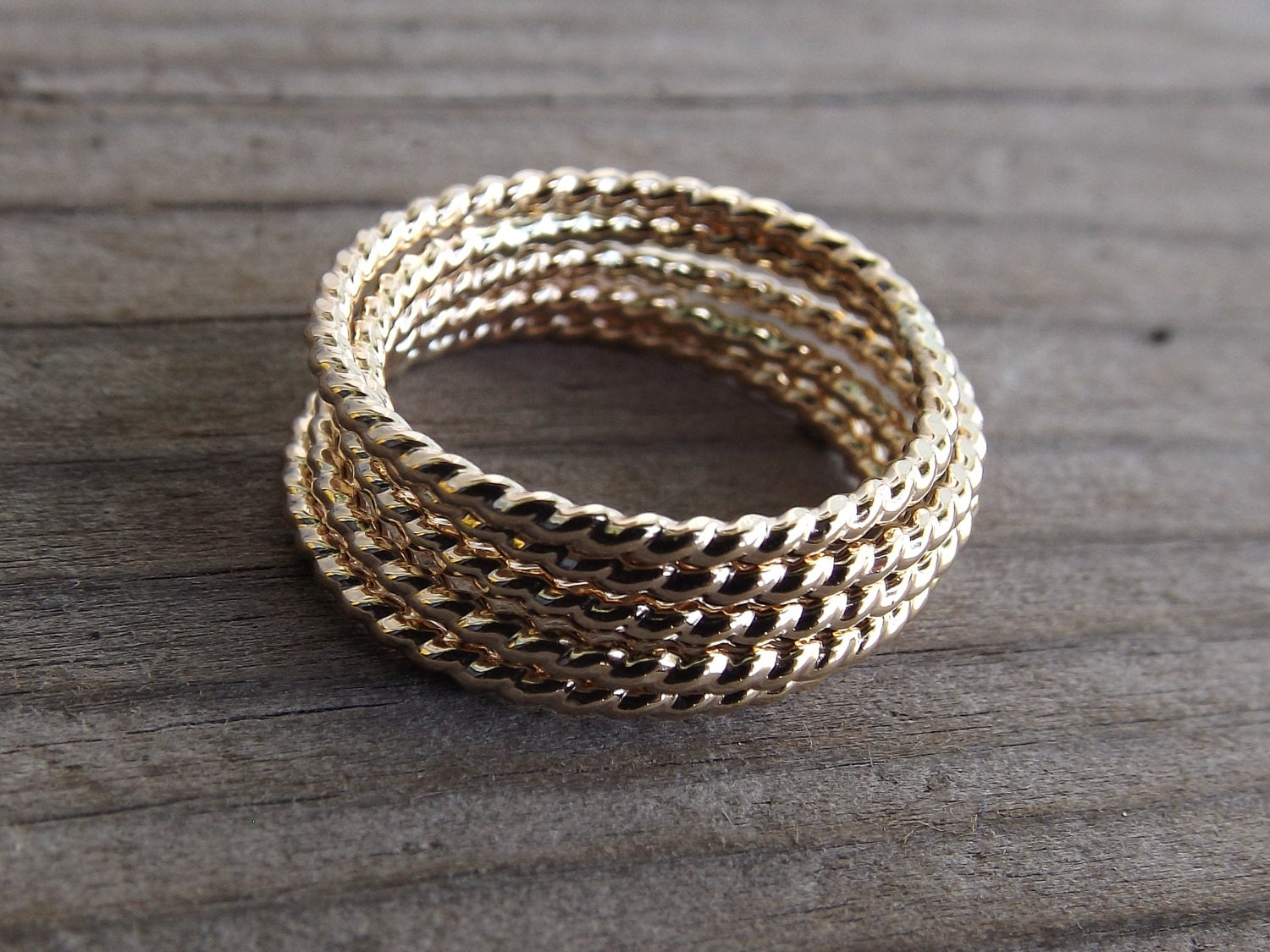 gold rope ring stackable ring twisted ring rope band. Black Bedroom Furniture Sets. Home Design Ideas