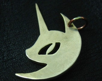 Bronze Nightmare Moon pendant