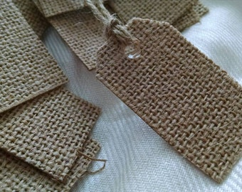 16 burlap price tags gift tags or embellishments