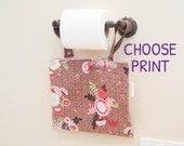 Hanging Wetbag Small Snap - Mama Cloth - Wet Bag - Waterproof - Bathroom - Menstrual Pad Bag - Personal Care - Choose Print - Custom