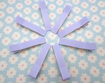 20 pcs girl hair clips --light purple  satin hair clips