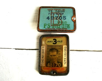 Vintage Whitehead Hoag Kaiser Company Badges