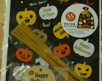 10pcs Happy Halloween Trick Or Treat Transparent Japanese Plastic Gift / Party Bags