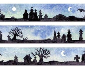 1 Roll of Limited Edition Washi Tape: Night at a Cemetery