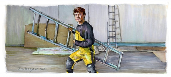Jackie Chan's First Strike - Ladder Fight Poster Print