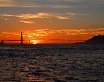 Golden Gate Sunset (FREE shipping in the U.S. only)