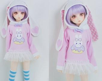 Slim MSD Minifee or SD Hoodie Sweater - Bunny Donut
