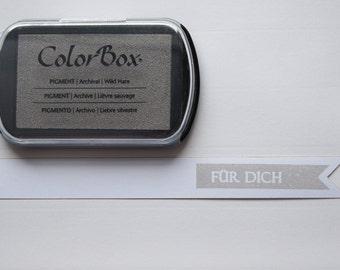 ♥♥ XL grey - grey pigment Inkpad ColorBox