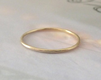 Yellow Gold Ring - Midi Ring - Smooth - 9ct Yellow Gold