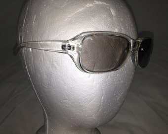 90s clear mirrored pop star glasses