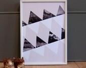 Mountain Stripes A4 Print