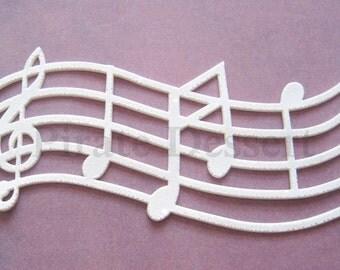 EDIBLE LACE - Sugar lace - lace Cake Wrap - Music Lace - Wedding Cake decorations - elegant Cake decoration - Lace Wedding Cake (Music Note)