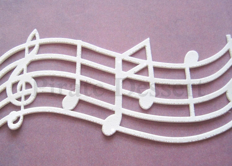 EDIBLE LACE Sugar lace lace Cake Wrap Music Lace