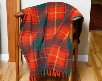 Plaid Wool Throw or Blanket by Ottawa Valley Woolens Made in Canada