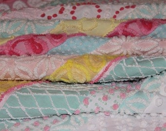 Vintage Chenille Quilt/Throw and Pillow