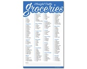 Guajolote Prints Straight Outta Groceries Funny Magnetic Grocery List Notepad 5.75 x 9.5 Inches 50 Sheets Blue