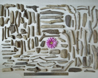Large Box (4 lb. 6 oz.) of Assorted Driftwood- Variety of shapes and sizes. Decorations for Weddings, Parties, Craft/Terrarium Supplies