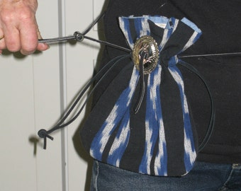 West-style Drawstring Waist Purse