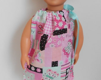 Pink Butterfly Pillowcase dress for American Girl doll or 18 inch doll NOW ON SALE