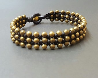 Triple Layer Brass Bracelet