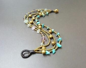 Chip Brass Chain  Bracelet