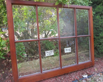 36 x 28 Vintage Window sash old  8 pane  from 1951