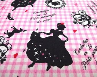 Japanese Fabric LECIEN Girl's Story Cinderella Pink Fat Quarter