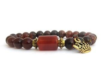 Women's Bracelet - Agate Bracelet - Charm Bracelet - Gemstone Bracelet - Stretch Bracelet - Women's Jewelry - Bracelets for Women - W0919