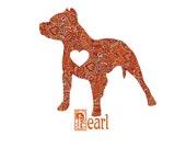 Bully in My Heart - Pitbull Custom Dog Portrait