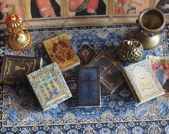 Dollhouse miniature  religious books set