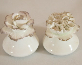 1970s Vintage Salt and Pepper Porcelain Shakers by Aynsley