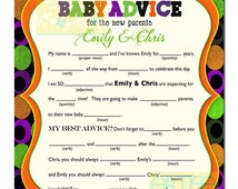 baby shower personalized mad lib halloween baby shower games