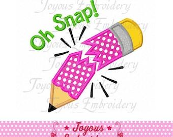 Instant Download Oh Snap Pencil Applique Machine Embroidery Design NO:1814