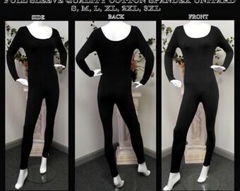 Bodysuit, Plus Unitard, Catsuit, Yoga wear, Gym Wear, Soft and Best Quality Cotton Spandex Fullsleeve Unitard Bodysuit. S,M,L,XL,2XL,3XL