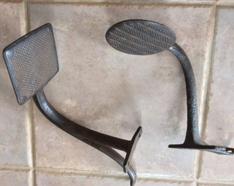 Antique Coach Step Lot of Two Cast Iron