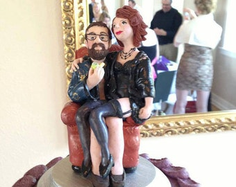 Custom Bride and Groom Cake Toppers from your Photos and Ideas