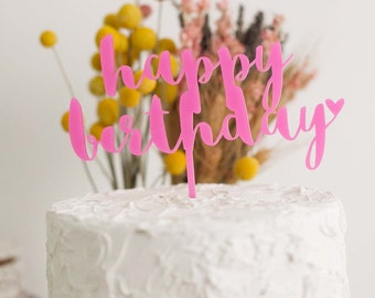 Happy Birthday Cake Topper, Baby Shower Cake Topper, Wedding Cake Topper, Anniversary Cake Topper, Cake Topper