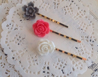 Planner Clips, Flower Bobby Pins, Hair Clips, Planner Accessories, Planner, Hair Accessories, Planner Accessories, Bobby Pins, 028
