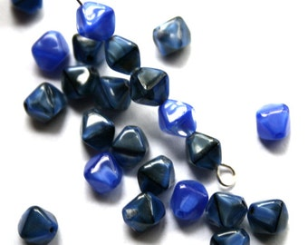 6 mm Lapis Blue Bicone Beads