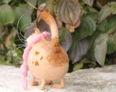 Needle Felted Toy - Cat - Soft Sculpture - OOAK